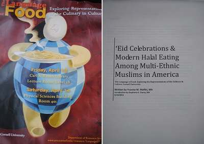 The Emergence of Eating Halal by Yvonne Maffei- Language of Food at Cornell University
