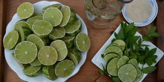 Limeade with Lemon Basil 317