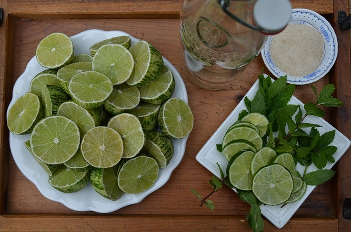 Limeade with Lemon Basil | My Halal Kitchen