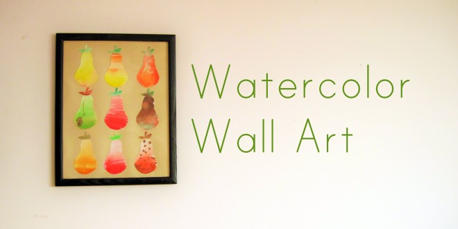 Paint a Watercolor Wall Art for your Home
