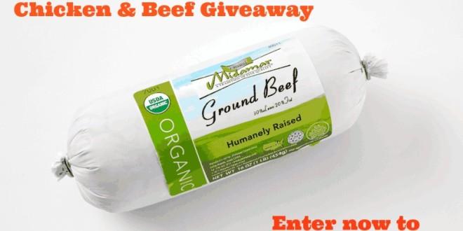 Midamar organic beef & chicken giveaway
