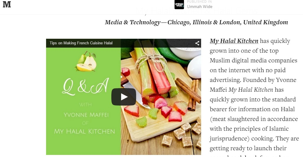 My Halal Kitchen- Ummah Wide Top 40 Global Innovative Muslim Startups