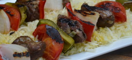 Beef Kabobs with Grilled Vegetables