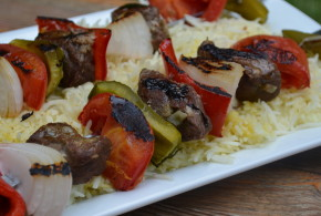 Beef Kebobs with Grilled Vegetables | My Halal Kitchen
