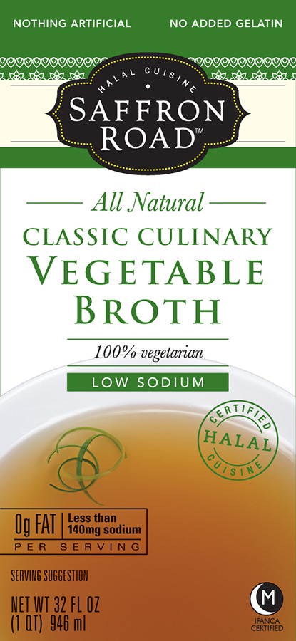 Saffron Road Culinary Classic Vegetable Broth