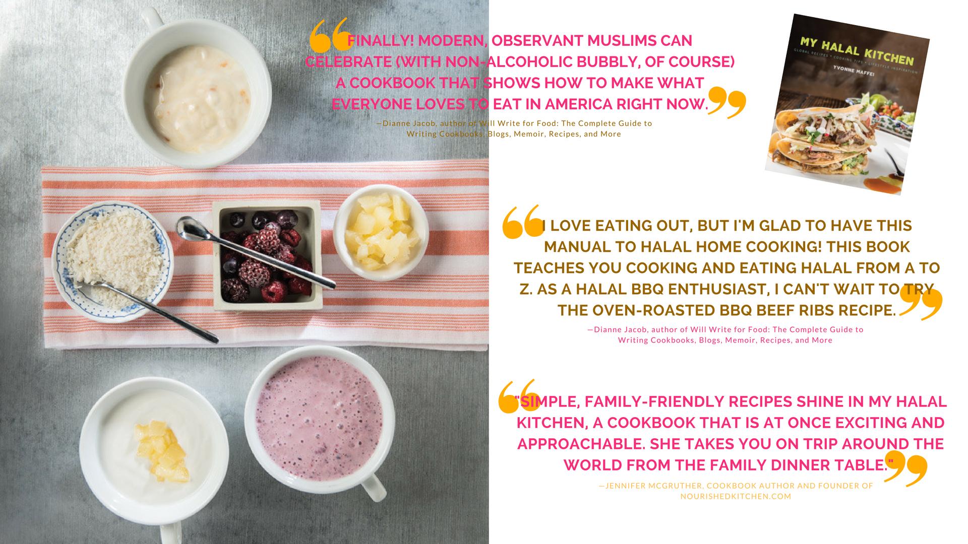cookbook promotion my halal kitchen by yvonne maffei