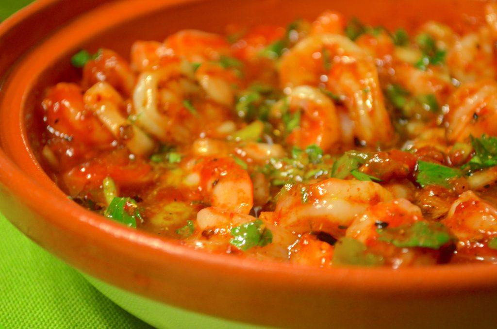 Shrimp in Tagine Bowl
