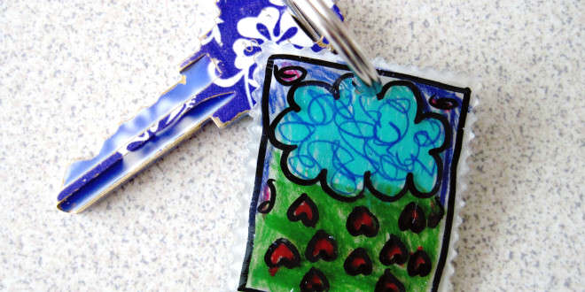 Bust Kiddie Boredom with Shrinky Dink Keychains
