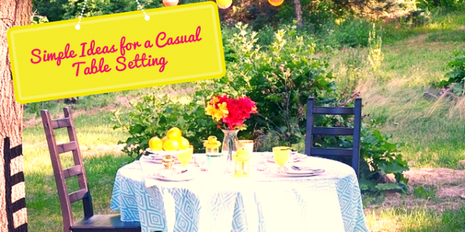 Casual Summer Table Setting