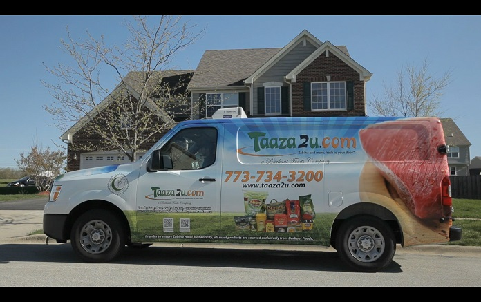 Taaza2u.com Delivery Truck. Photo courtesy of Barkaat Foods.