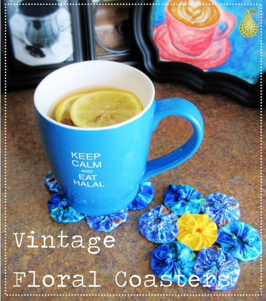 Vintage Floral Coasters by Sobia Hussain