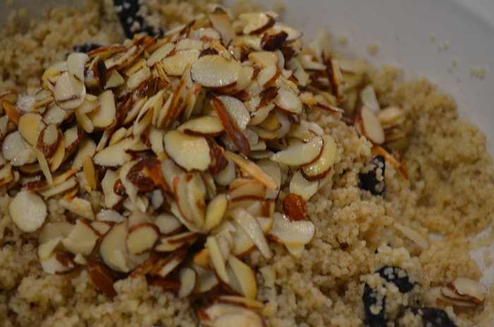 add almonds to couscous