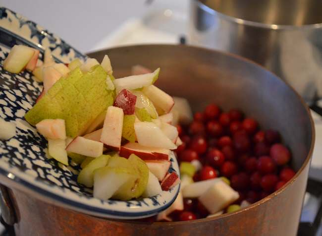 add apples and pears