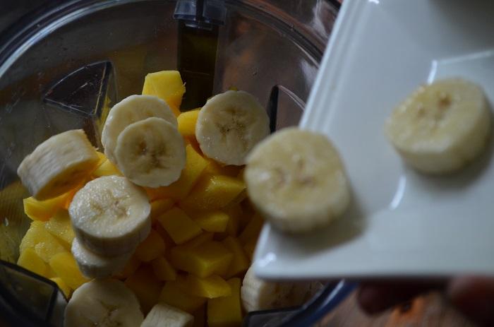 add the banana