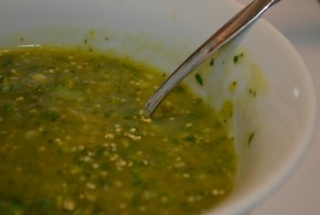 bowl of tomatillo salsa