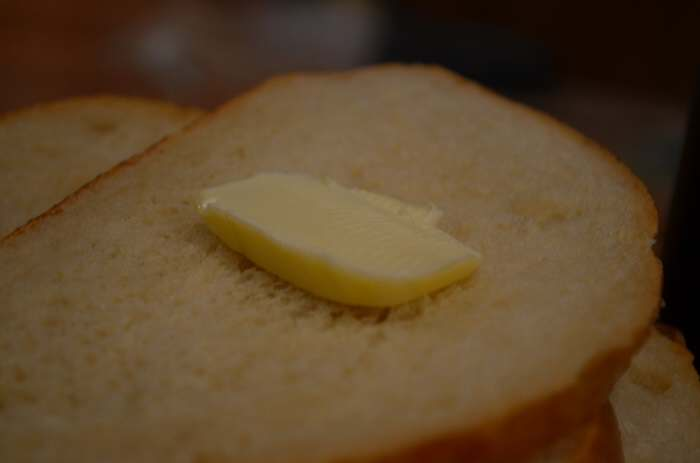 bread on butter
