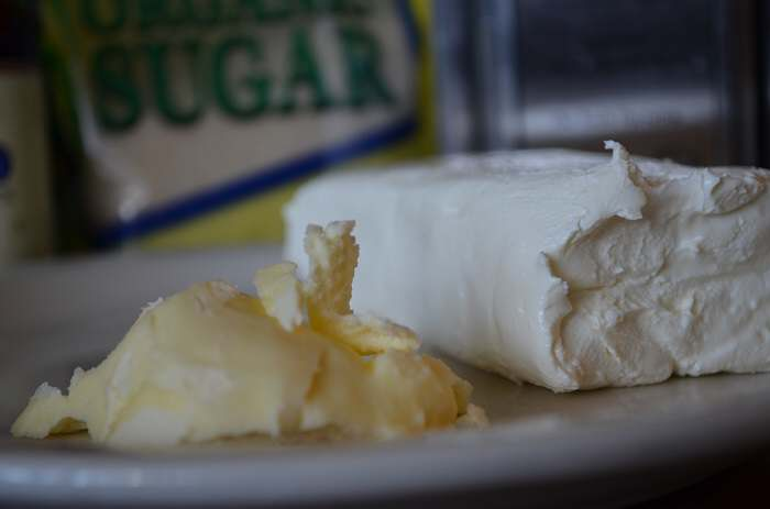 butter and cream cheese