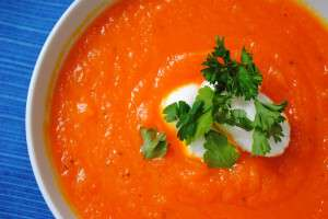 carrot soup from Sumemr Ramadan Cooking cookbook photo