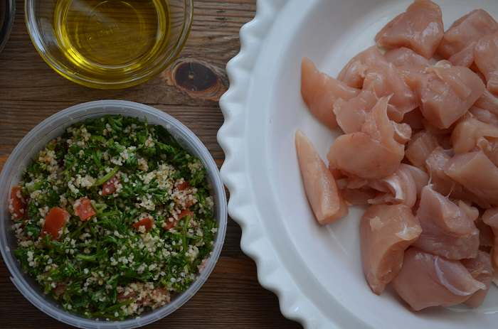 chicken and tabbouleh