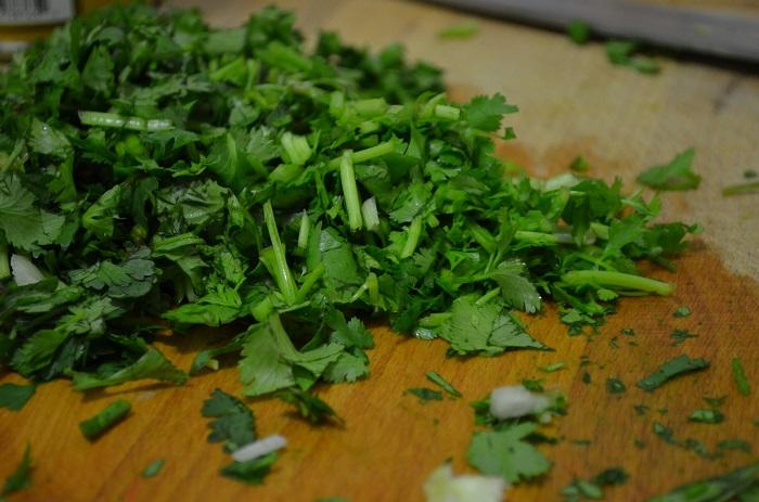 chop more cilantro