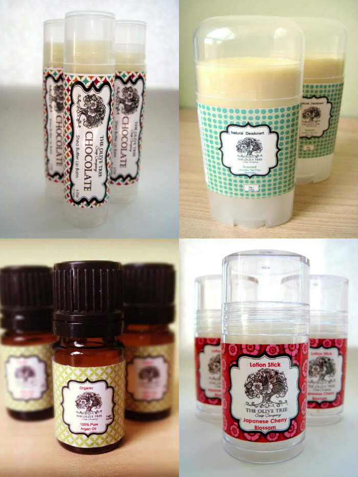 The Olive Tree Soap Company collage of products