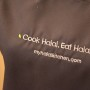 cook halal eat halal apron in gray