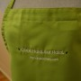 cook halal eat halal apron in lime green