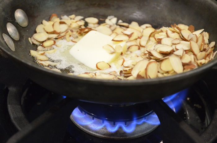 cooking almonds in butter
