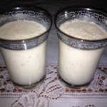 date with almond milk smoothie