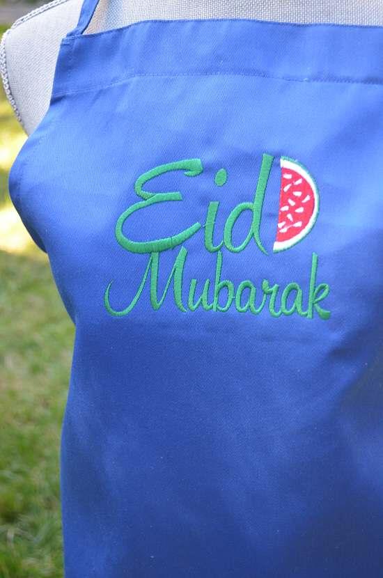 eid apron blue