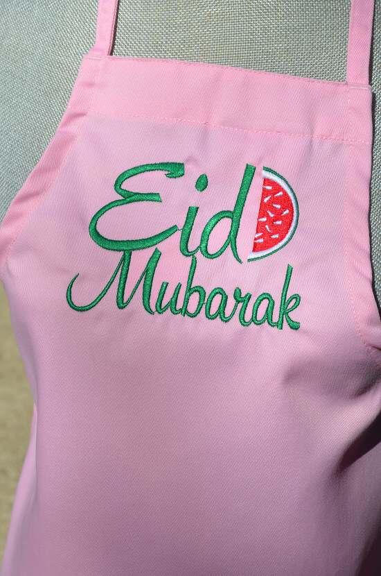 eid apron pink kids