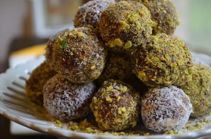Date Nut Balls Rolled in Coconut or PistachioMy Halal Kitchen