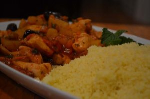 finished couscous dish