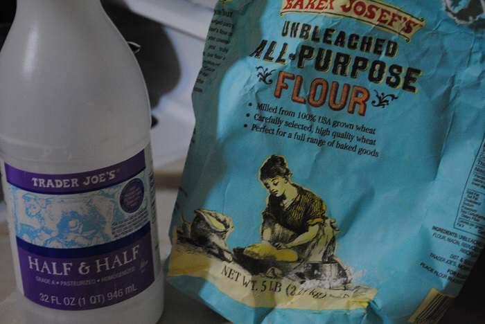 flour and half and half