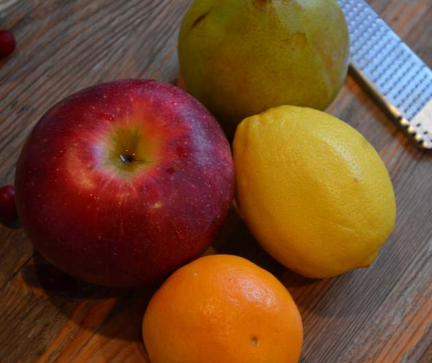 fruit and zester