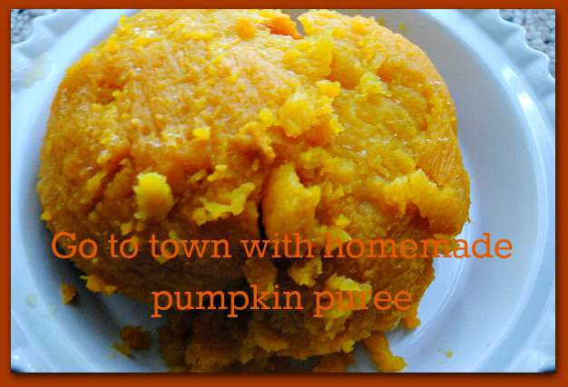 go to town with pumpkin puree