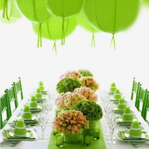 Green Paper Lantern- by Sang An for Martha Stewart Weddings