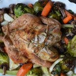 horizontal roasted chicken