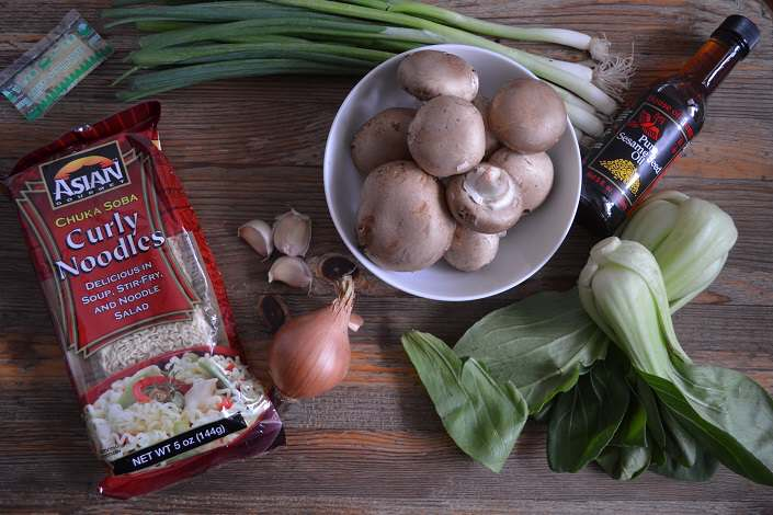 ingredients for lamb ramen
