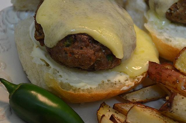 Cheesy Jalapeño Burgers - My Halal Kitchen by Yvonne Maffei-