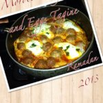 moroccan kefta with eggs tagine