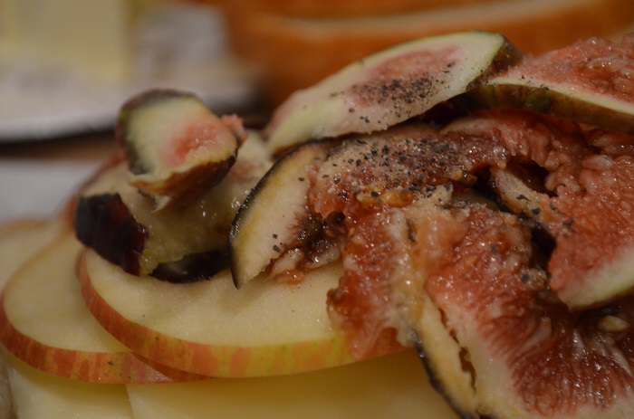 pepper on figs