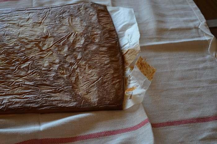 prepare to remove wax paper