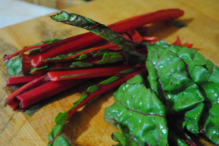 ribs of swiss chard