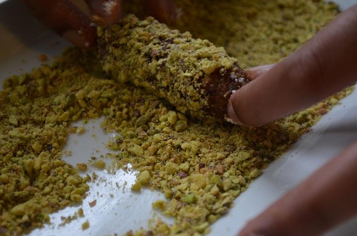 roll in pistachio