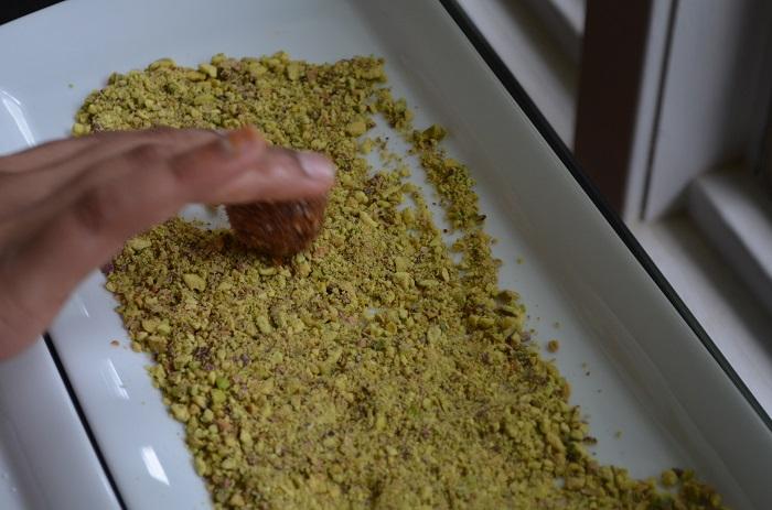 roll it in pistachio