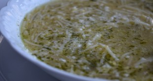 Fideos Egg Drop Soup with Chicken Broth