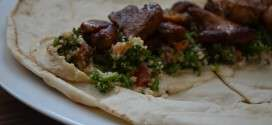 Chicken Pita Rolls with Hummus & Tabbouleh