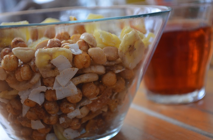 snack mix with chai