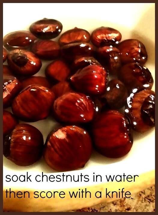 soak chestnuts in water